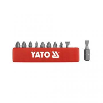 BỘ MŨI VÍT (+)(-) - LỤC GIÁC 1/4'' YATO 10 CHI TIẾT YT-0482