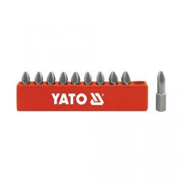 BỘ ĐẦU VÍT (+) PZ1 - LỤC GIÁC 1/4'' YATO 10 CHI TIẾT YT-0470
